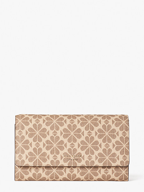 spade flower coated canvas chain clutch by kate spade new york