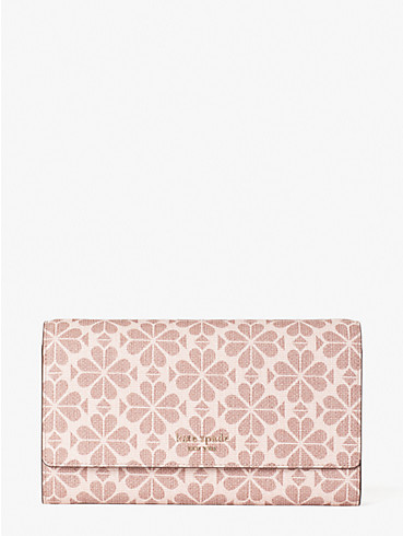 spade flower coated canvas chain clutch, , rr_productgrid