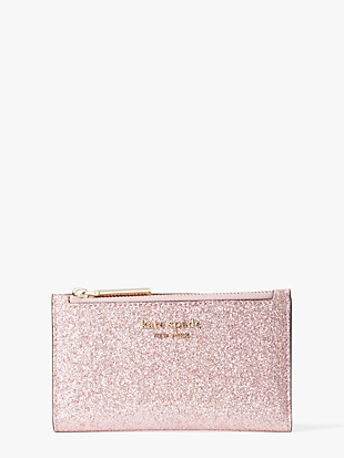 spencer glitter small slim bifold wallet by kate spade new york non-hover view