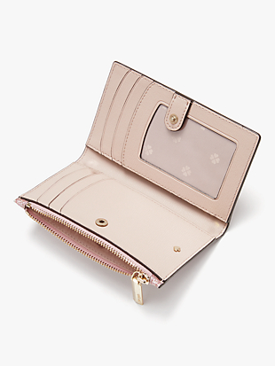 spencer glitter small slim bifold wallet by kate spade new york hover view