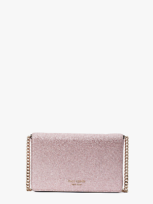 spencer glitter chain wallet by kate spade new york non-hover view