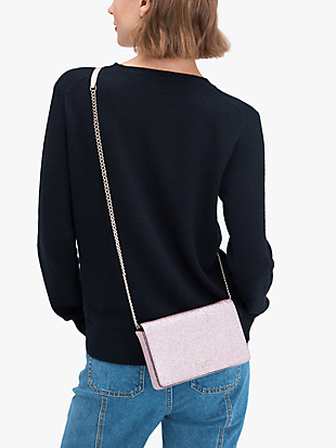 spencer glitter chain wallet by kate spade new york hover view