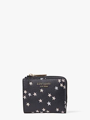 spencer confetti stars small bifold wallet by kate spade new york non-hover view