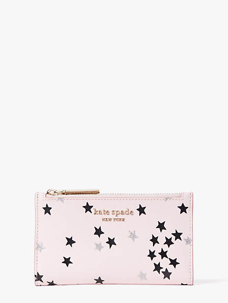 spencer confetti stars small slim bifold wallet by kate spade new york