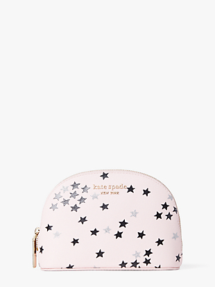spencer confetti stars small dome cosmetic case by kate spade new york non-hover view