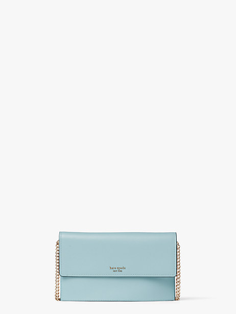willow wallet crossbody, frosted spearmint, large by kate spade new york