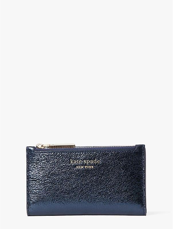 spencer metallic small slim bifold wallet, , rr_large