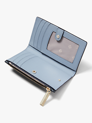 spencer metallic small slim bifold wallet by kate spade new york hover view