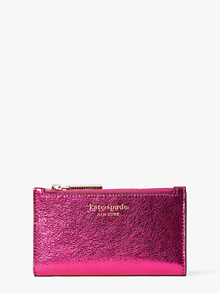 spencer metallic small slim bifold wallet by kate spade new york non-hover view