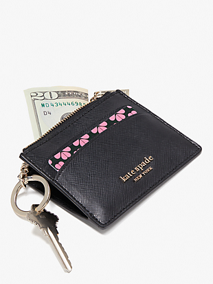 spencer metallic coin cardholder by kate spade new york hover view