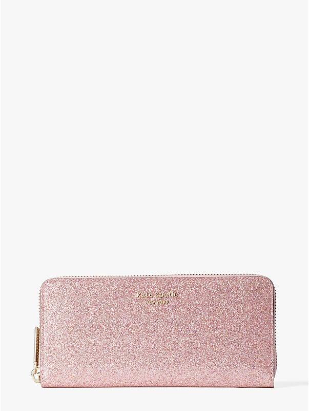 spencer glitter slim continental wallet, , rr_large