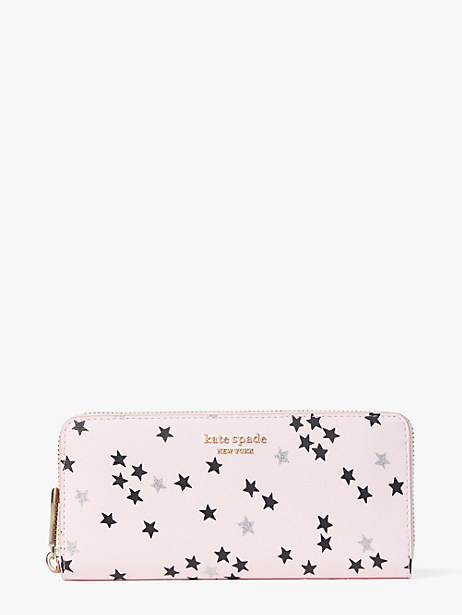 spencer confetti stars slim continental wallet by kate spade new york