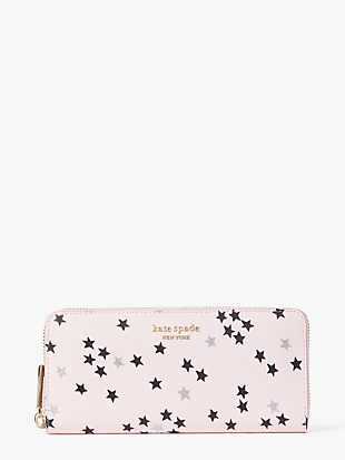 spencer confetti stars slim continental wallet by kate spade new york non-hover view