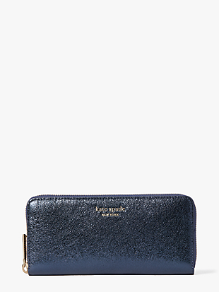 spencer metallic slim continental wallet by kate spade new york non-hover view