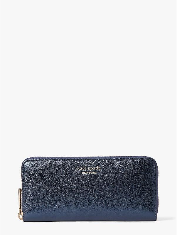 spencer metallic slim continental wallet, , rr_large