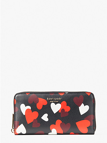 spencer celebration hearts zip-around continental wallet, , rr_productgrid