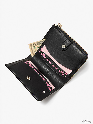 disney x kate spade new york minnie mouse small bifold wallet, , rr_productgrid