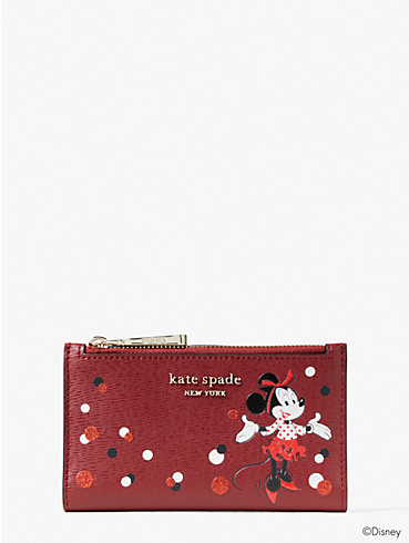 disney x kate spade new york minnie mouse small slim bifold wallet, , rr_productgrid