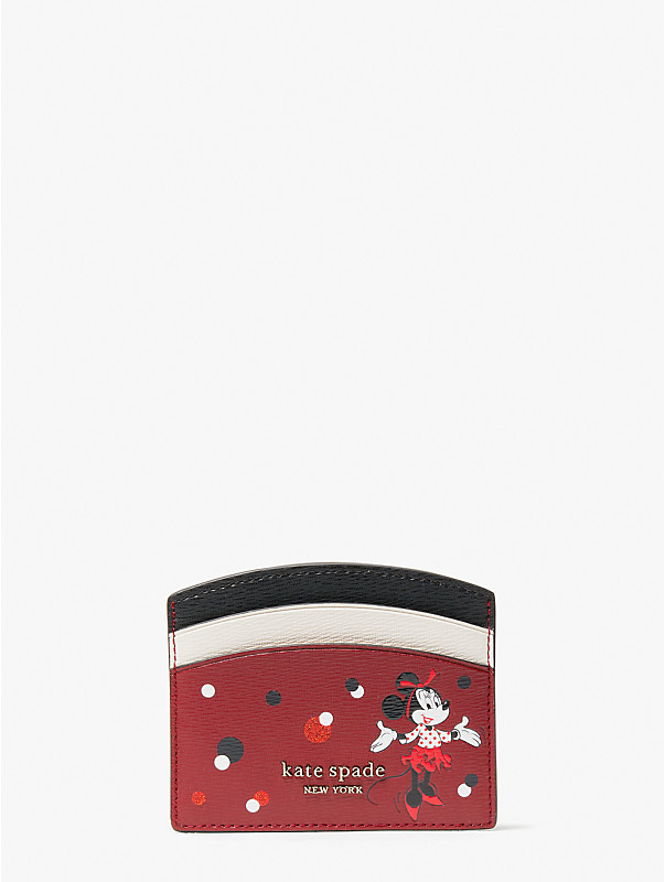 disney x kate spade new york minnie mouse cardholder, , rr_large