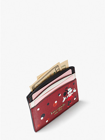 disney x kate spade new york minnie mouse cardholder, , rr_productgrid
