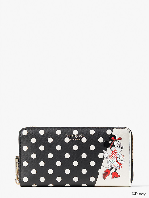 disney x kate spade new york minnie mouse zip around continental wallet, , rr_large