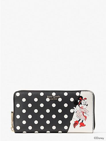 disney x kate spade new york minnie mouse zip around continental wallet, , rr_productgrid