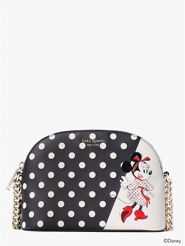 disney x kate spade new york minnie mouse small dome crossbody, , rr_large