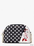 disney x kate spade new york minnie mouse small dome crossbody, , s7productThumbnail