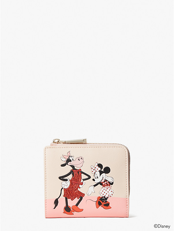 disney x kate spade new york clarabelle & friends small bifold wallet, , rr_large