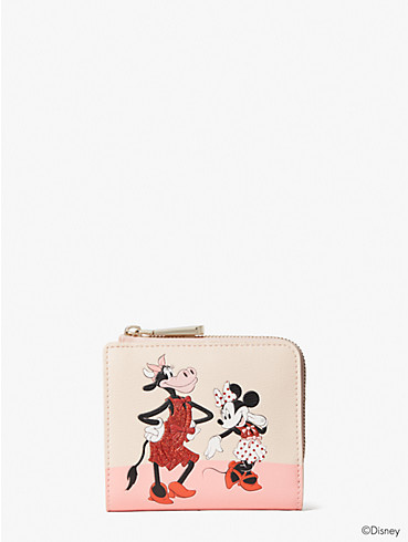 disney x kate spade new york clarabelle & friends small bifold wallet, , rr_productgrid