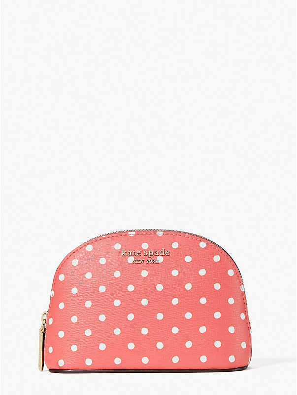 spencer dots small dome cosmetic case, , rr_large