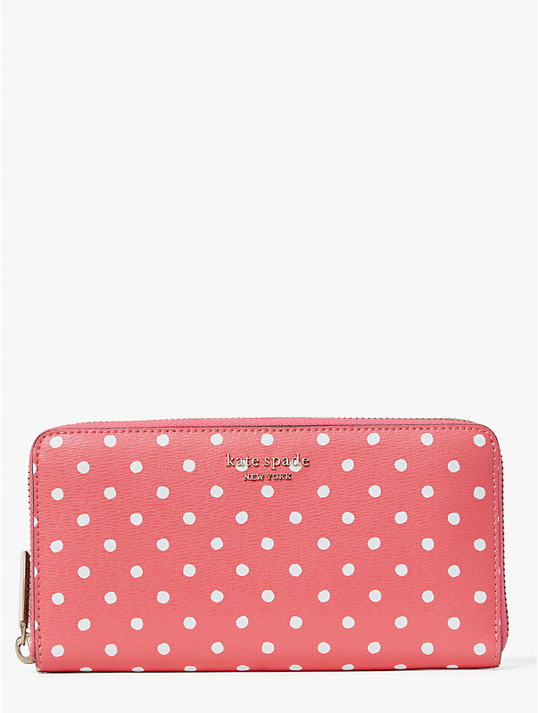 spencer dots zip-around continental wallet, , rr_large