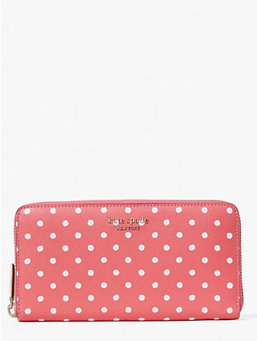spencer dots zip-around continental wallet, , rr_productgrid