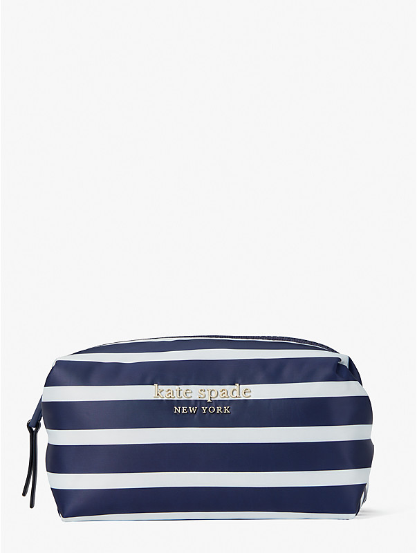 everything puffy stripes medium cosmetic case, , rr_large