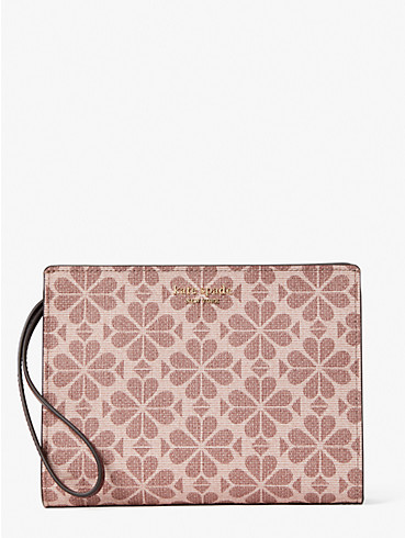 spade flower coated canvas wristlet, , rr_productgrid