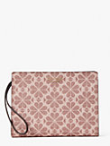 spade flower coated canvas wristlet, , s7productThumbnail