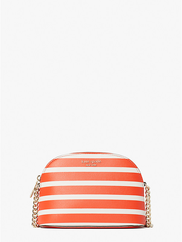 spencer stripe small dome crossbody, , rr_large