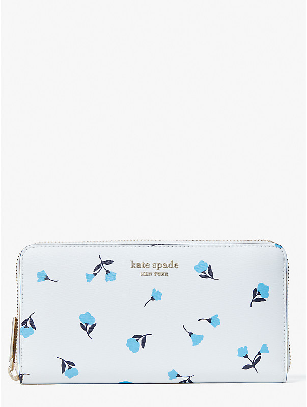 spencer dainty bloom zip-around continental wallet, , rr_large