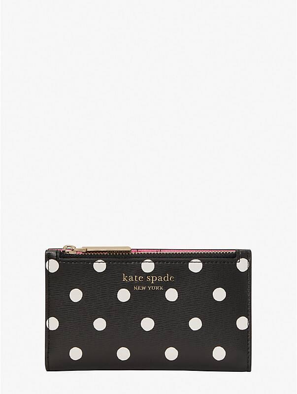 spencer sunshine dot small slim bifold wallet, , rr_large
