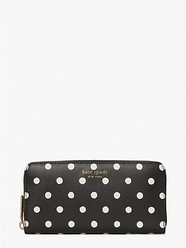 spencer sunshine dot zip-around continental wallet, , rr_productgrid