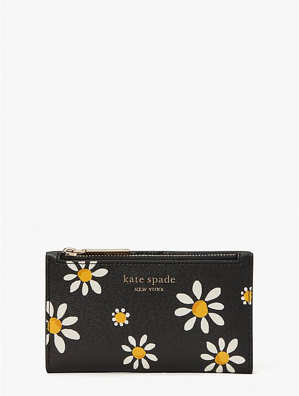 spencer daisy dots small slim bifold wallet, , rr_large