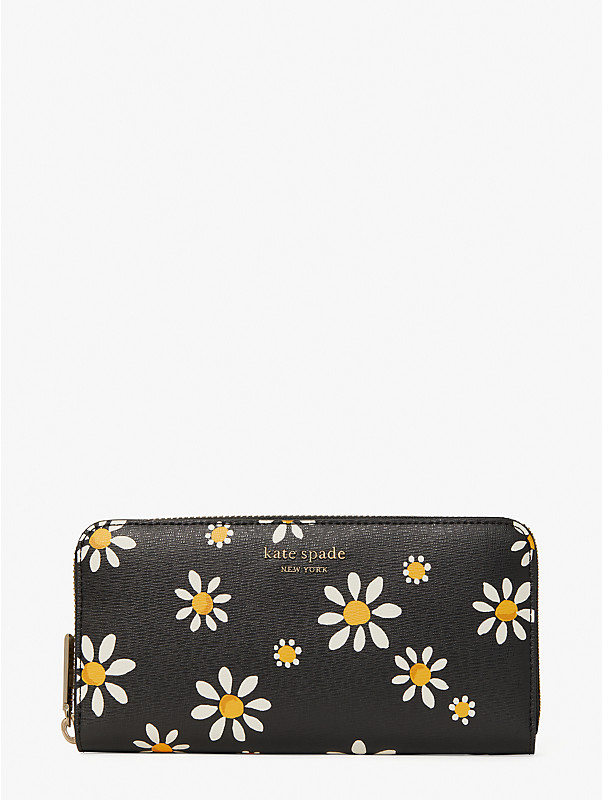 spencer daisy dots zip-around continental wallet, , rr_large