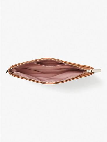 spade flower jacquard stripe pouch wristlet, , rr_productgrid