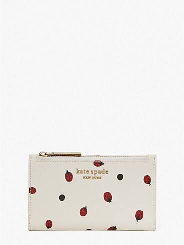 lady bug dots small slim bifold wallet, , rr_productgrid