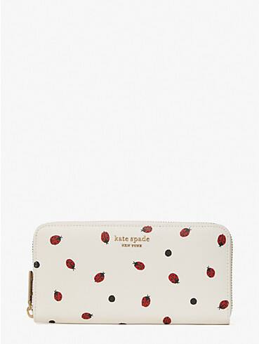 lady bug dots zip-around continental wallet, , rr_productgrid