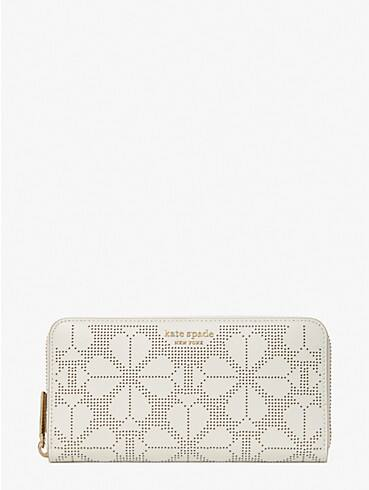 spencer perforated zip-around continental wallet, , rr_productgrid