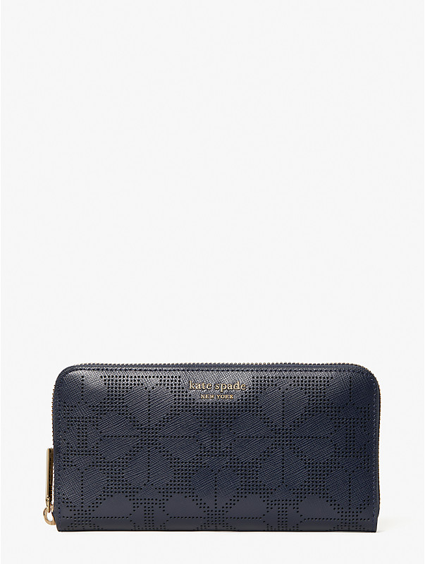 spencer perforated zip-around continental wallet, , rr_large