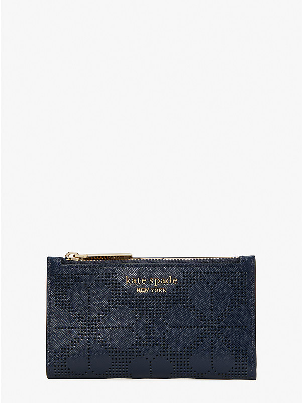 spencer perforated small slim bifold wallet, , rr_large