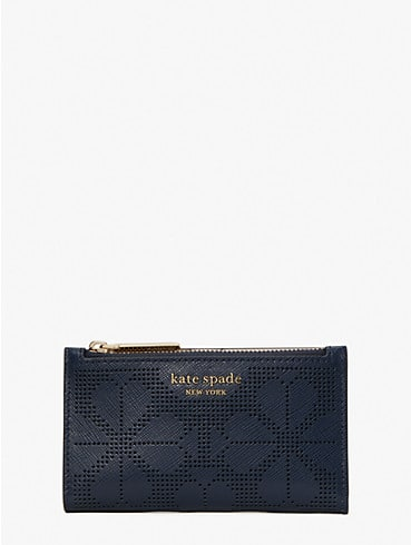 spencer perforated small slim bifold wallet, , rr_productgrid