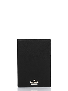 cameron street travel passport holder, black, medium
